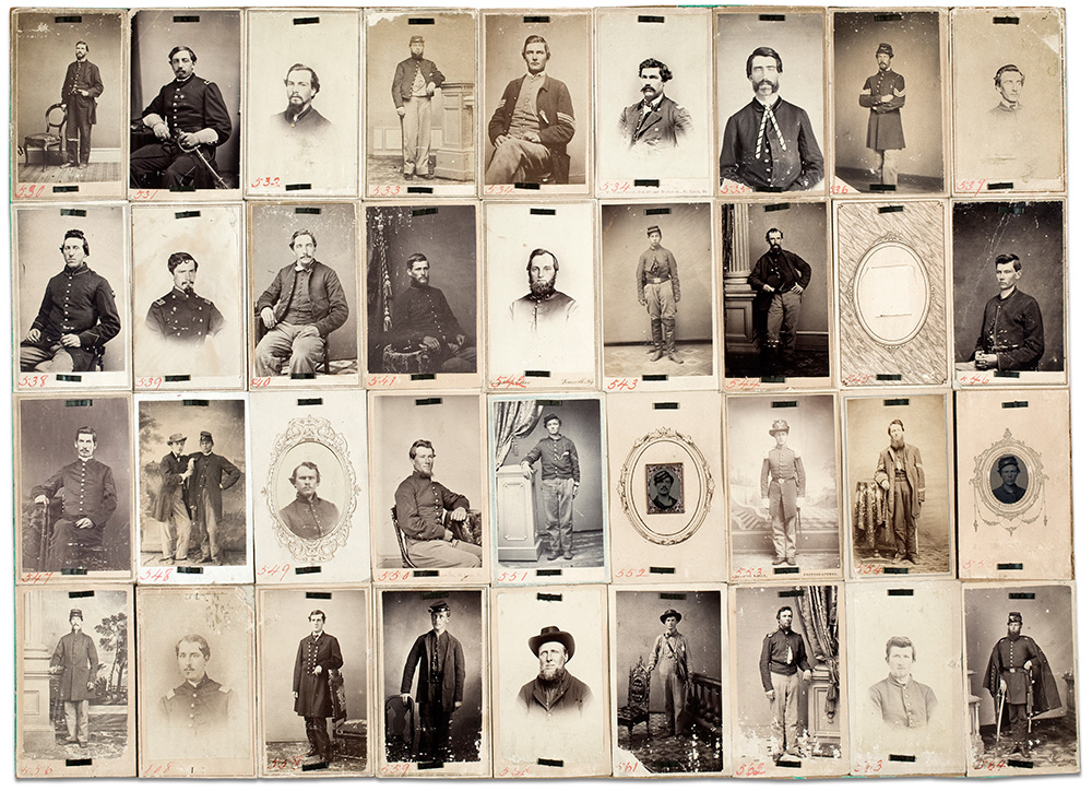 This surviving panel was displayed in the Dead Letter Office museum after the Civil War in hopes that a friend or family member might recognize a familiar face. George Eastman Museum.