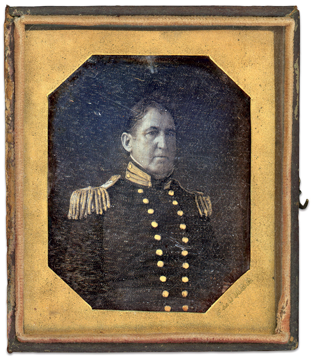 Sixth-plate daguerreotype by an anonymous photographer.