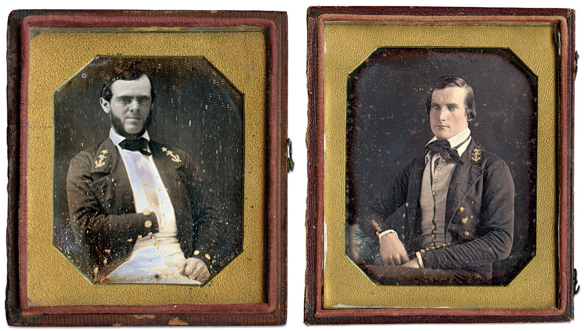 Sixth-plate daguerreotypes by an anonymous photographer.