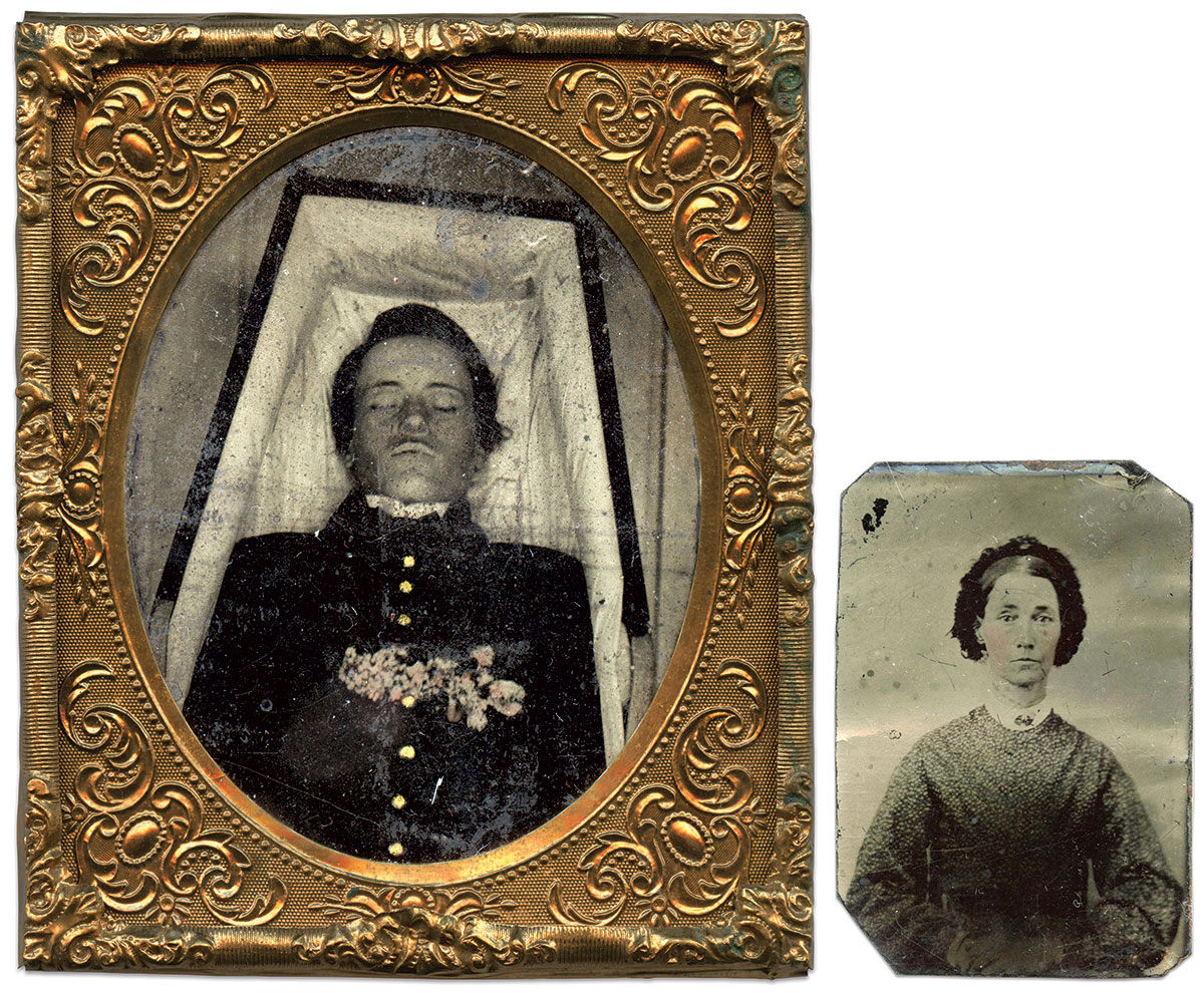 Sixth-plate tintypes by an anonymous photographer. Doug York Collection.