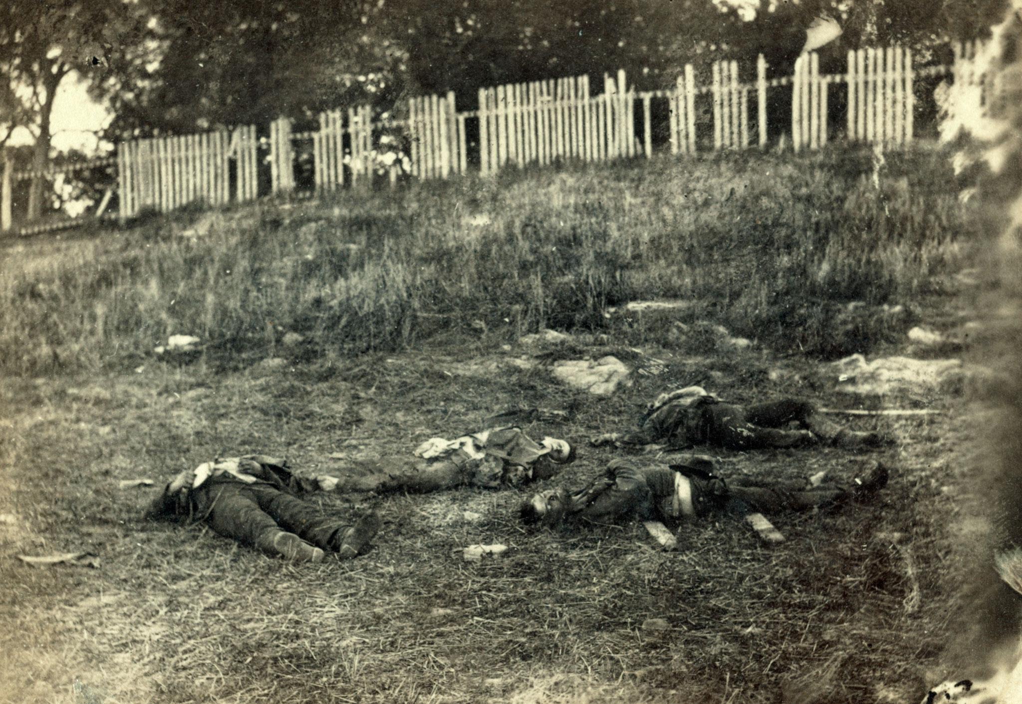 The Battlefield of Antietam, 1862, by Alexander Gardner. Library of Congress.