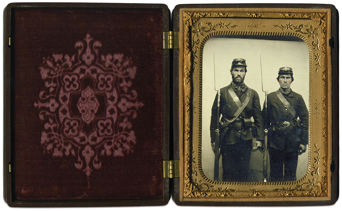 Quarter-plate ruby ambrotype by an anonymous photographer.