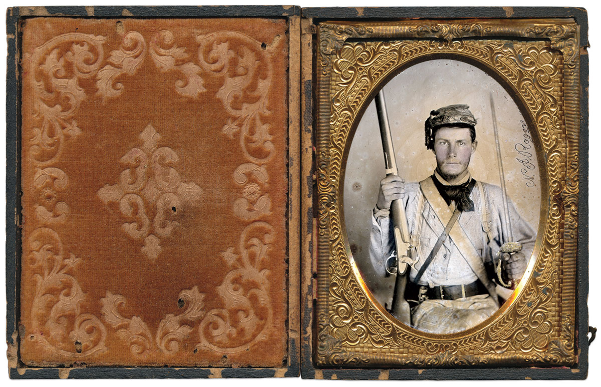 Quarter-plate ambrotype by an anonymous photographer. Dan Schwab Collection.