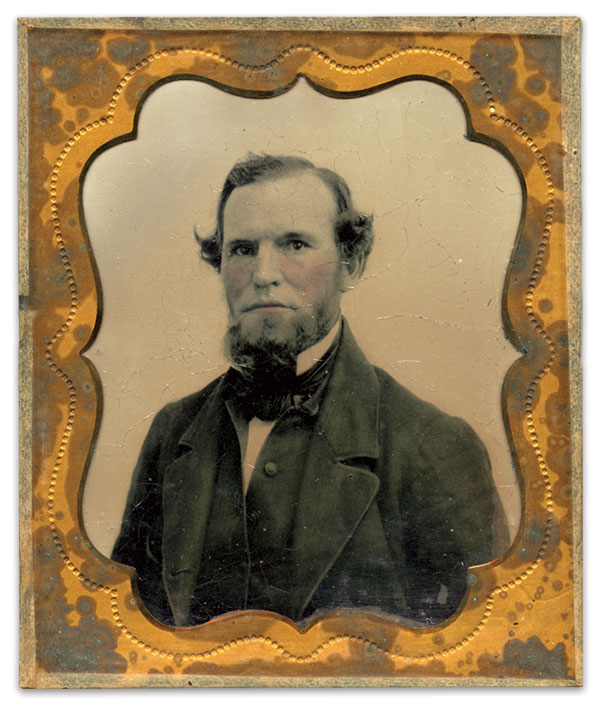 John Ravenscroft Jones (1818-1901) served in the 66th Virginia Militia until his discharge in April 1862 at Norfolk, Va. Sixth-plate ambrotype by an anonymous photographer. Courtesy of the Jones-Horsman Family.