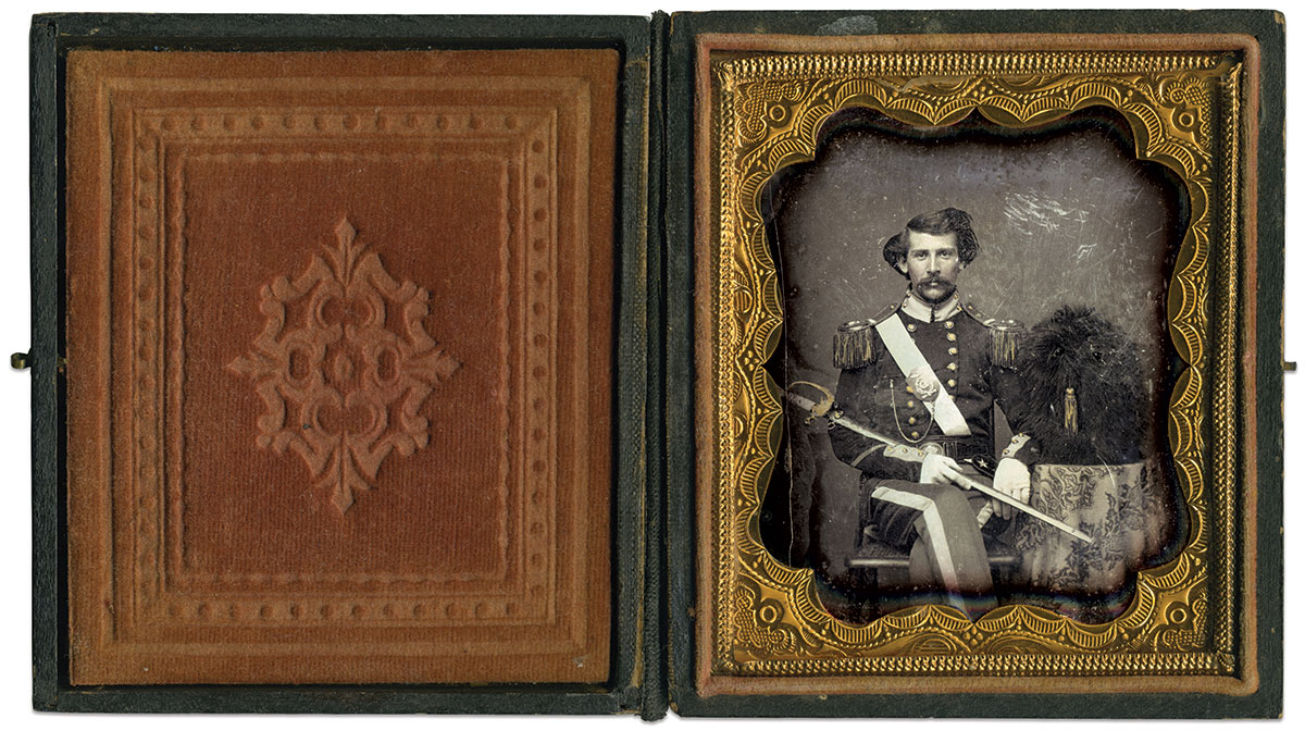 Sixth-plate daguerreotype by an anonymous photographer. Paul Reeder Collection.