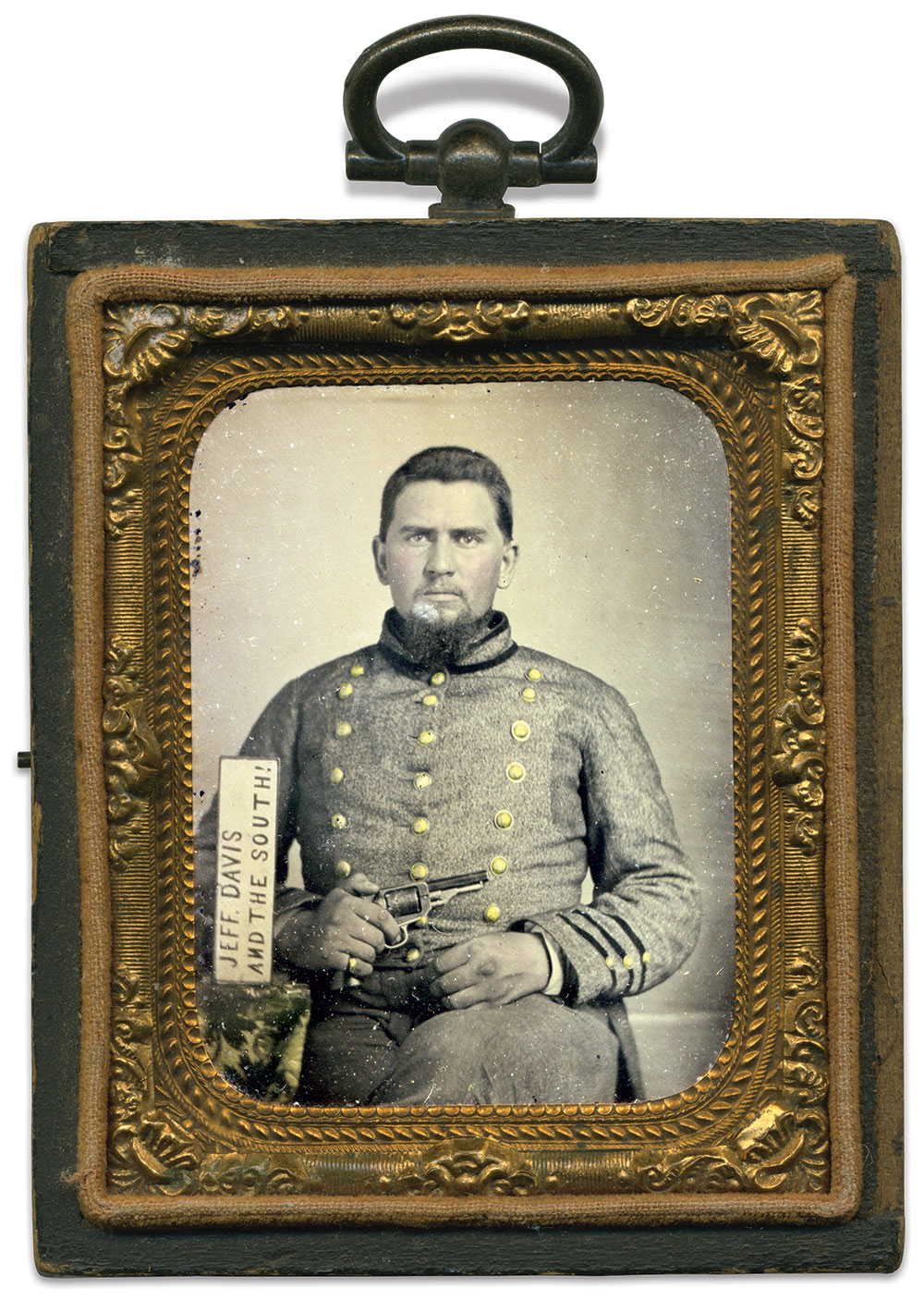 Ninth-plate tintype attributed to a Corinth, Miss., photographer. Paul Reeder Collection.