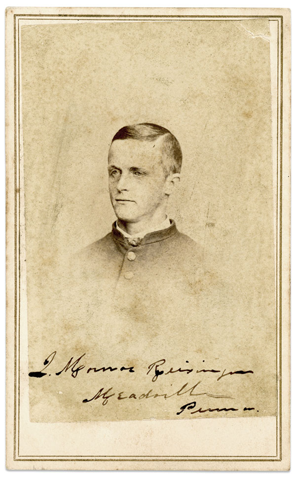 Carte de visite by Mathew B. Brady of Washington, D.C. Faye and Ed Max Collection.