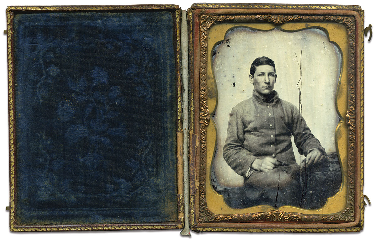 Quarter-plate tintype by an anonymous photographer. Rex Knight Collection.