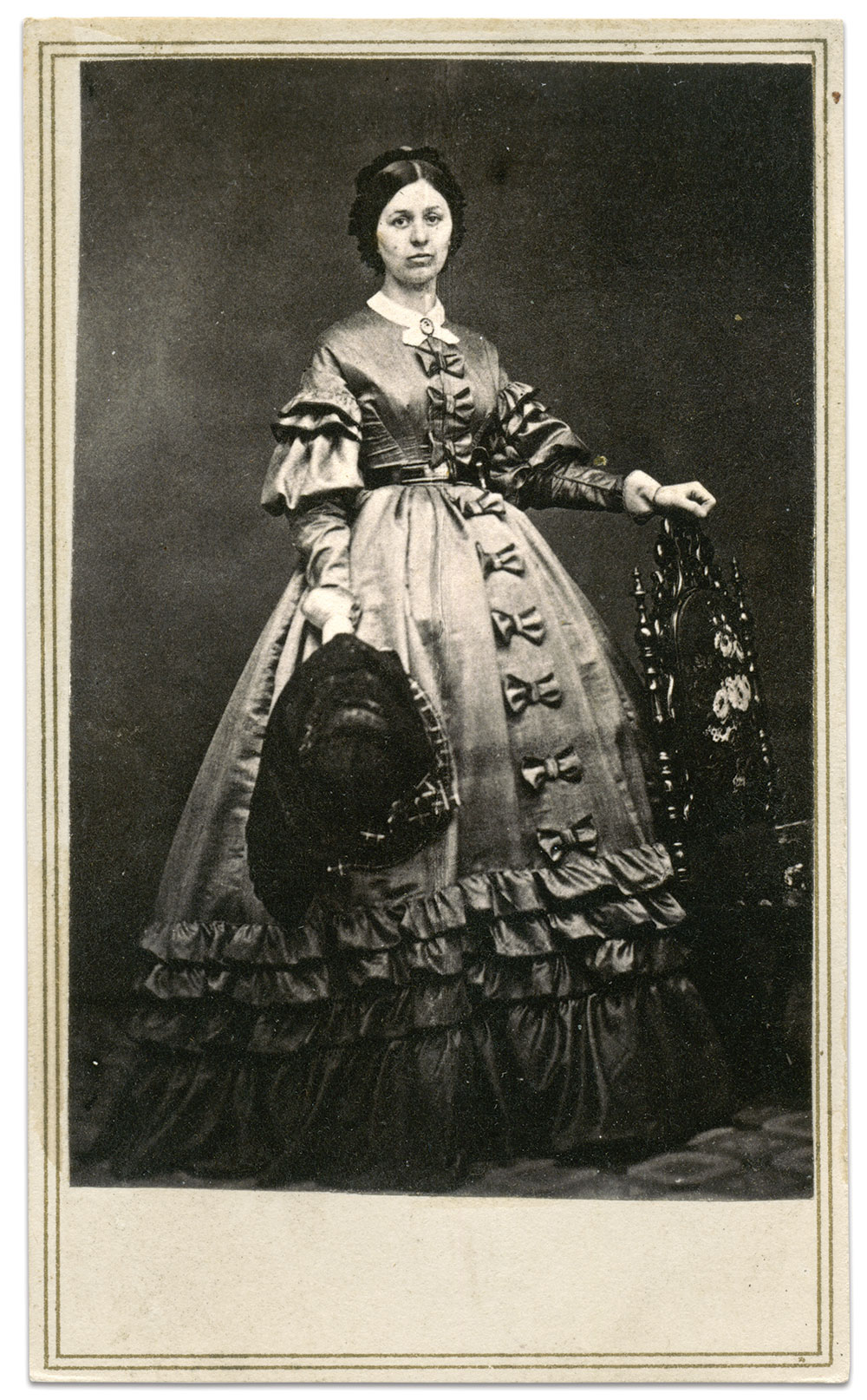 Carte de visite by Edward and Henry T. Anthony of New York City. Chris Foard Collection.