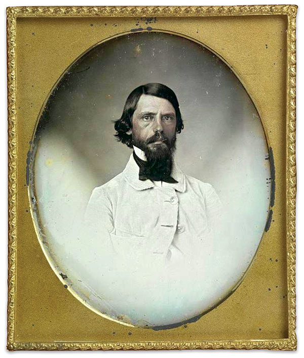 Sixth-plate daguerreotype by an anonymous photographer. National Portrait Gallery.