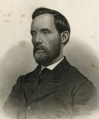 Albert D. Richardson from the frontispiece of his war memoirs, The Secret Service, The Field, The Dungeon, and The Escape.