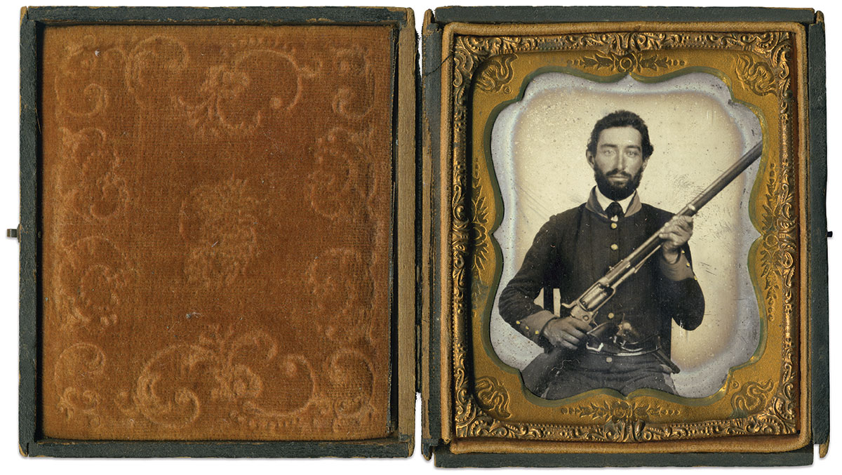 Sixth-plate tintype by an anonymous photographer. Brian Riel Collection.