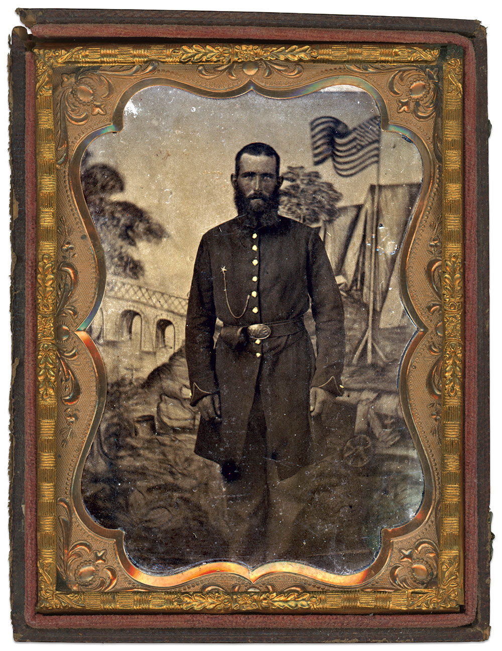 Quarter-plate tintype by an anonymous photographer. Jim Rivest Collection.