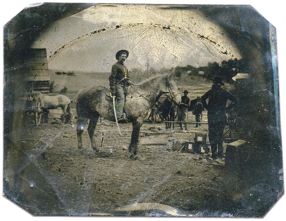 Quarter-plate tintype by an anonymous photographer. R.J. Boquette collection.