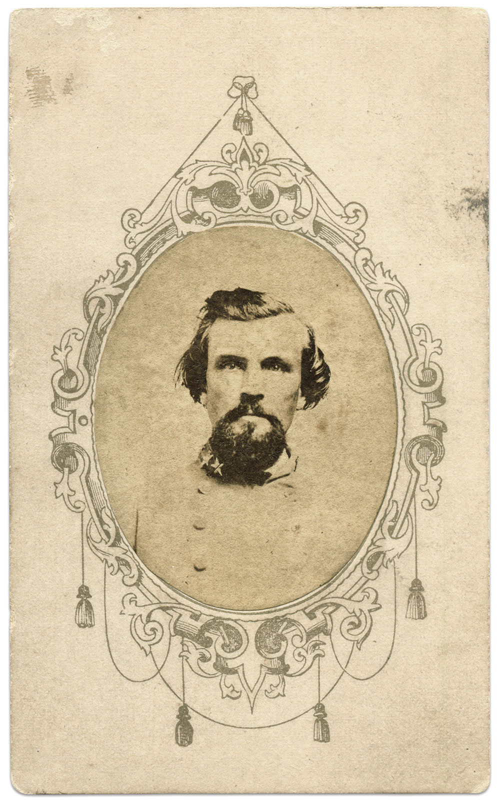Carte de visite by an anonymous photographer. Steve and Mike Romano Collection.