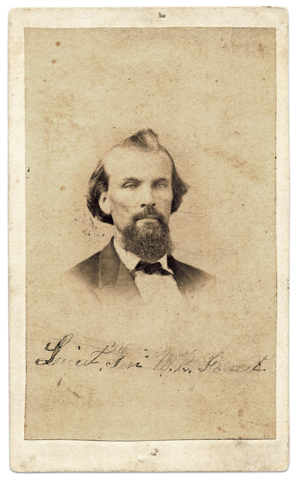 Carte de visite by Bingham & Brother's Gallery of Memphis, Tenn. Steve and Mike Romano Collection.