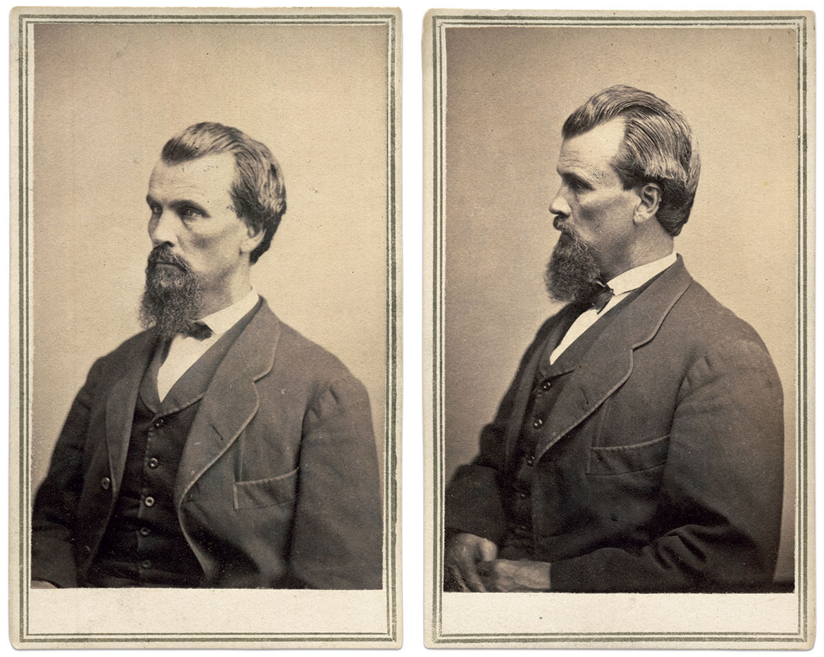 Cartes de visite by Mathew B. Brady of New York City. Steve and Mike Romano Collection.
