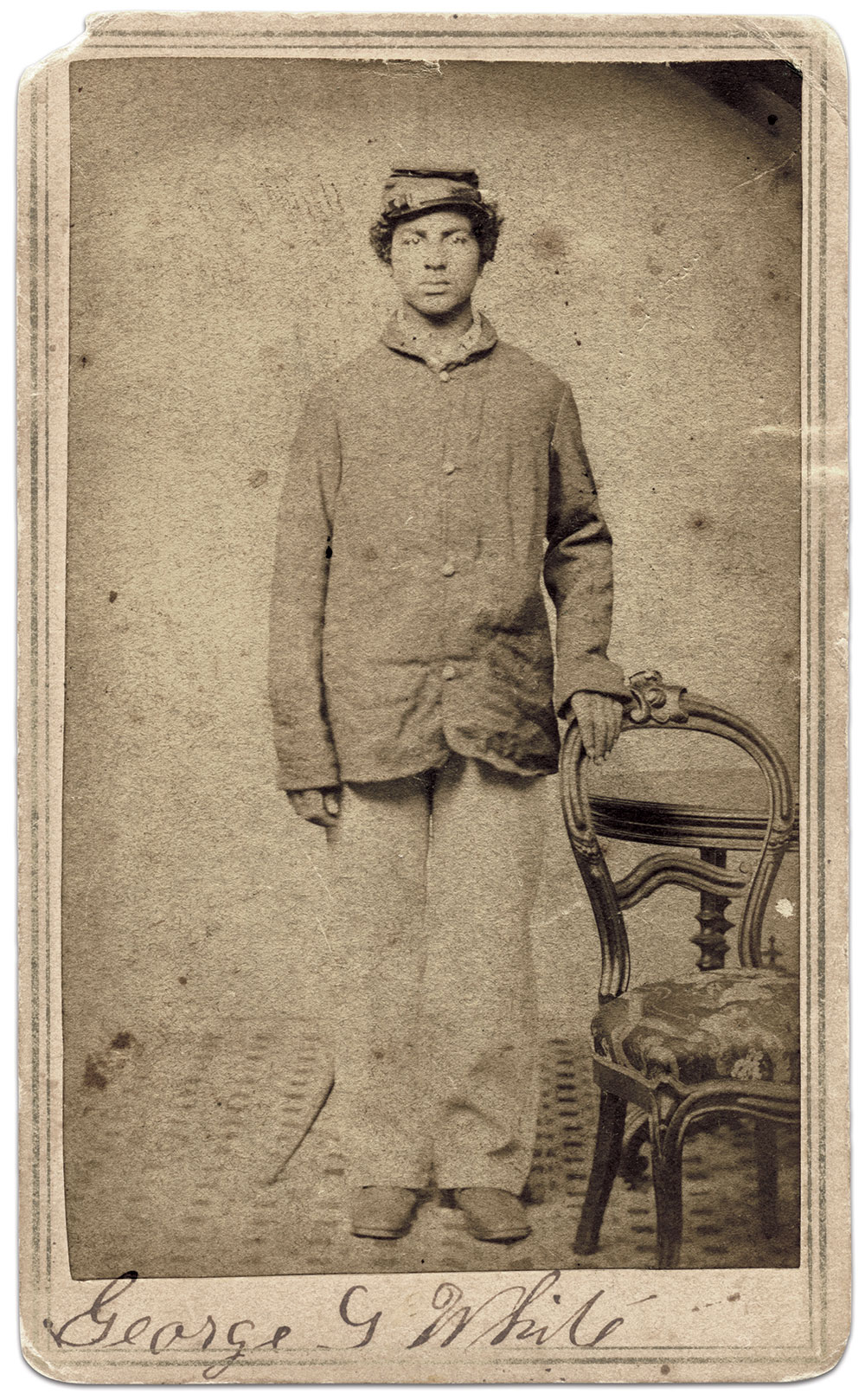 Carte de visite by Lawrence of Worcester, Mass. Paul Russinoff Collection.