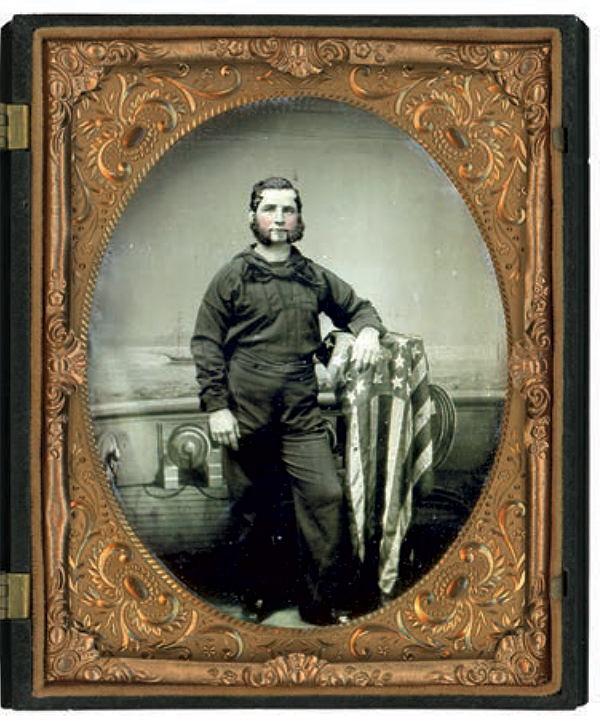 Half-plate tintype by an anonymous photographer. Rich Jahn Collection.