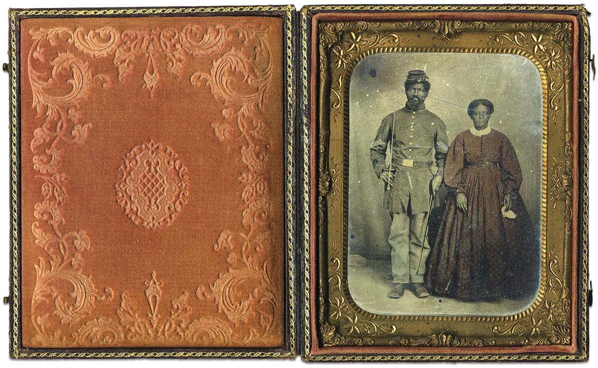 Quarter-plate tintype by an anonymous photographer. Paul Russinoff Collection.
