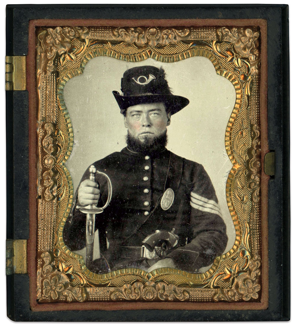 Ninth-plate tintype by an anonymous photographer. Dan Binder Collection.