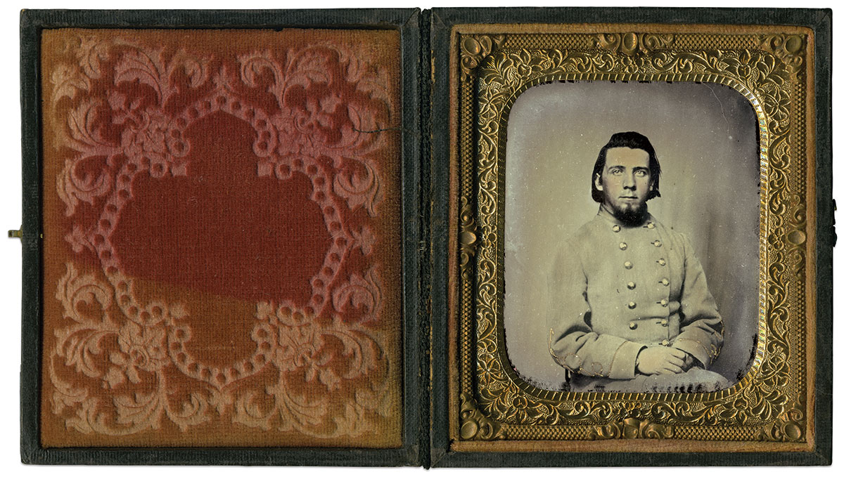 Sixth-plate ambrotype by an anonymous photographer. Dr. Dan Sydlowski Collection.