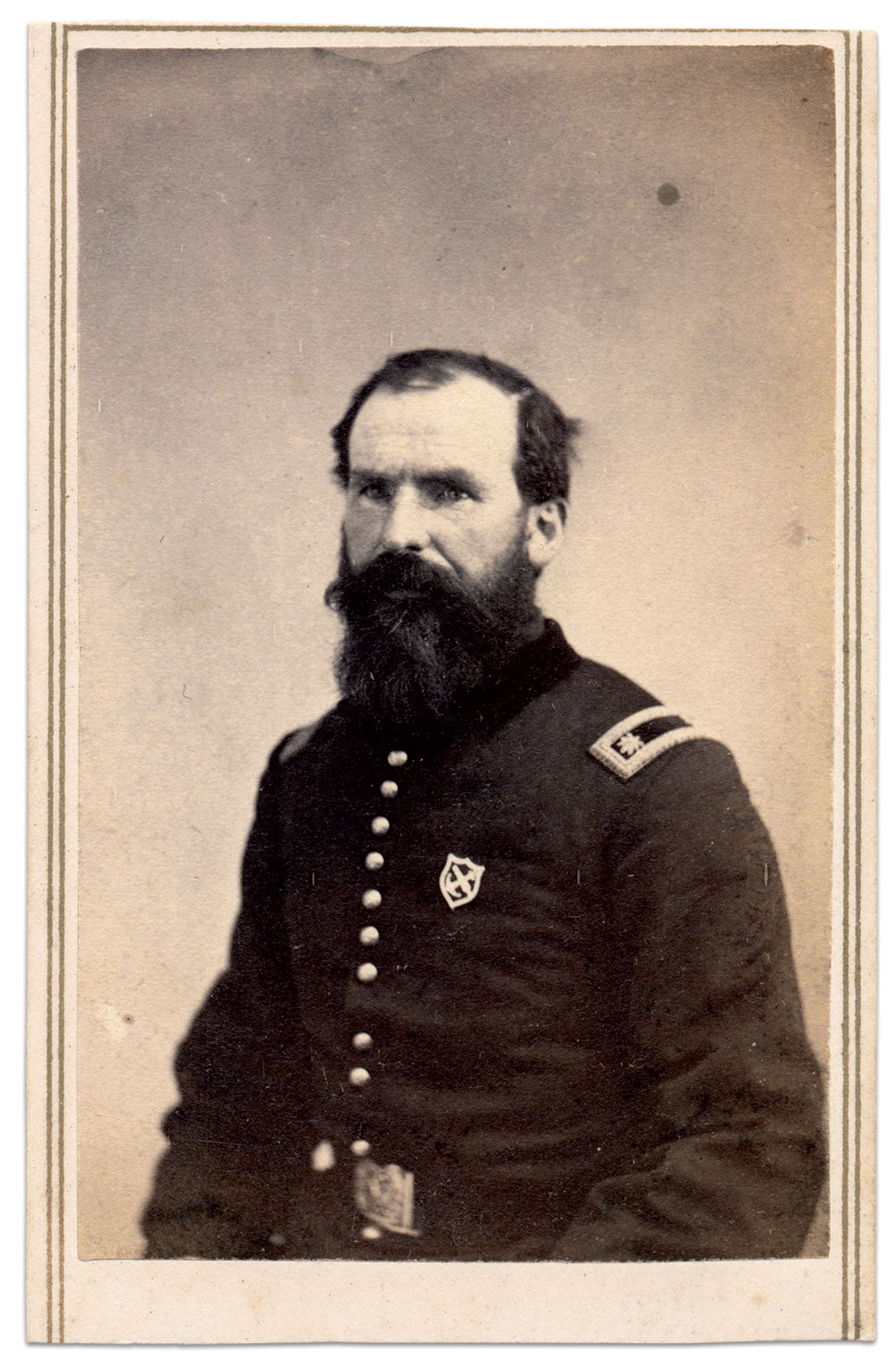 Carte de visite by Silvester Roe of Flushing, Long Island, N.Y. Author's Collection.