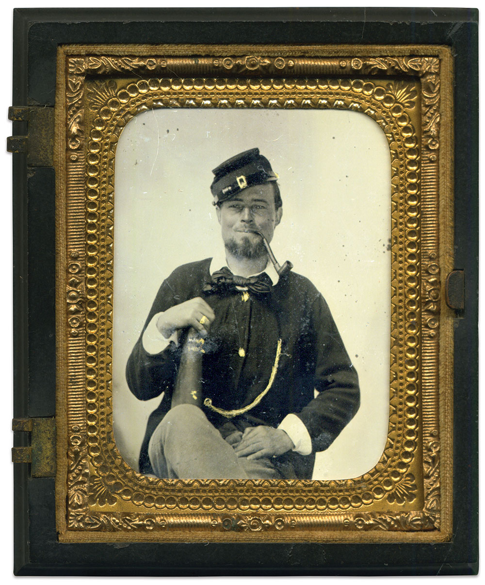 Sixth-plate tintype by an anonymous photographer. Gary Schaefer Collection.