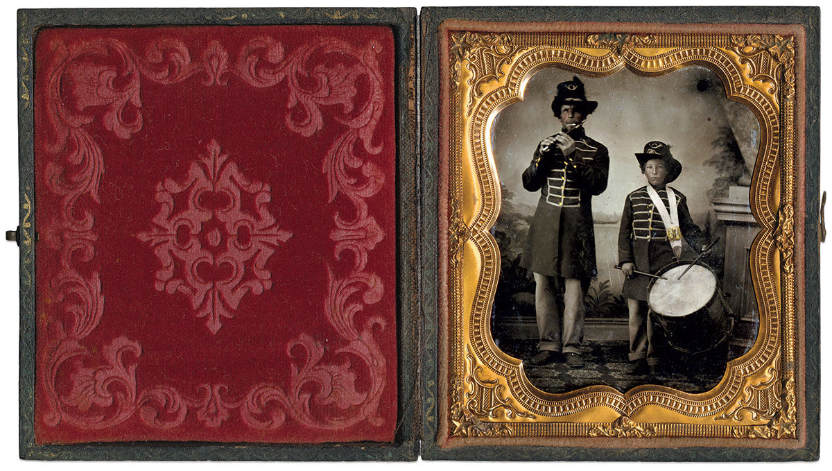 Sixth-plate tintype by an unidentified photographer. Dan Schwab Collection.