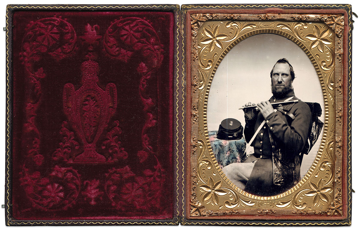 Quarter-plate ruby ambrotype by an anonymous photographer. Dan Schwab Collection.