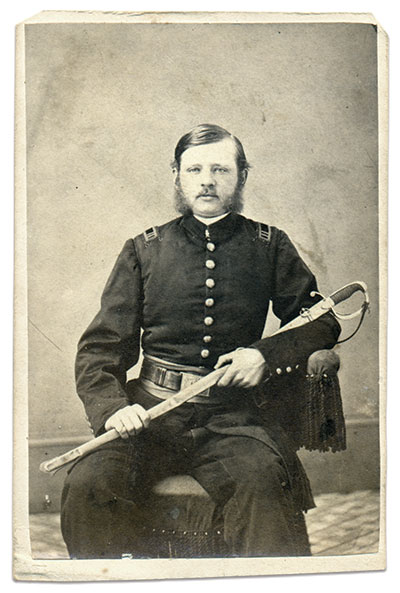 Capt. Selfridge is pictured in a carte de visite by H.P. Osborne of Bethlehem, Pa.Robinson Family Collection.