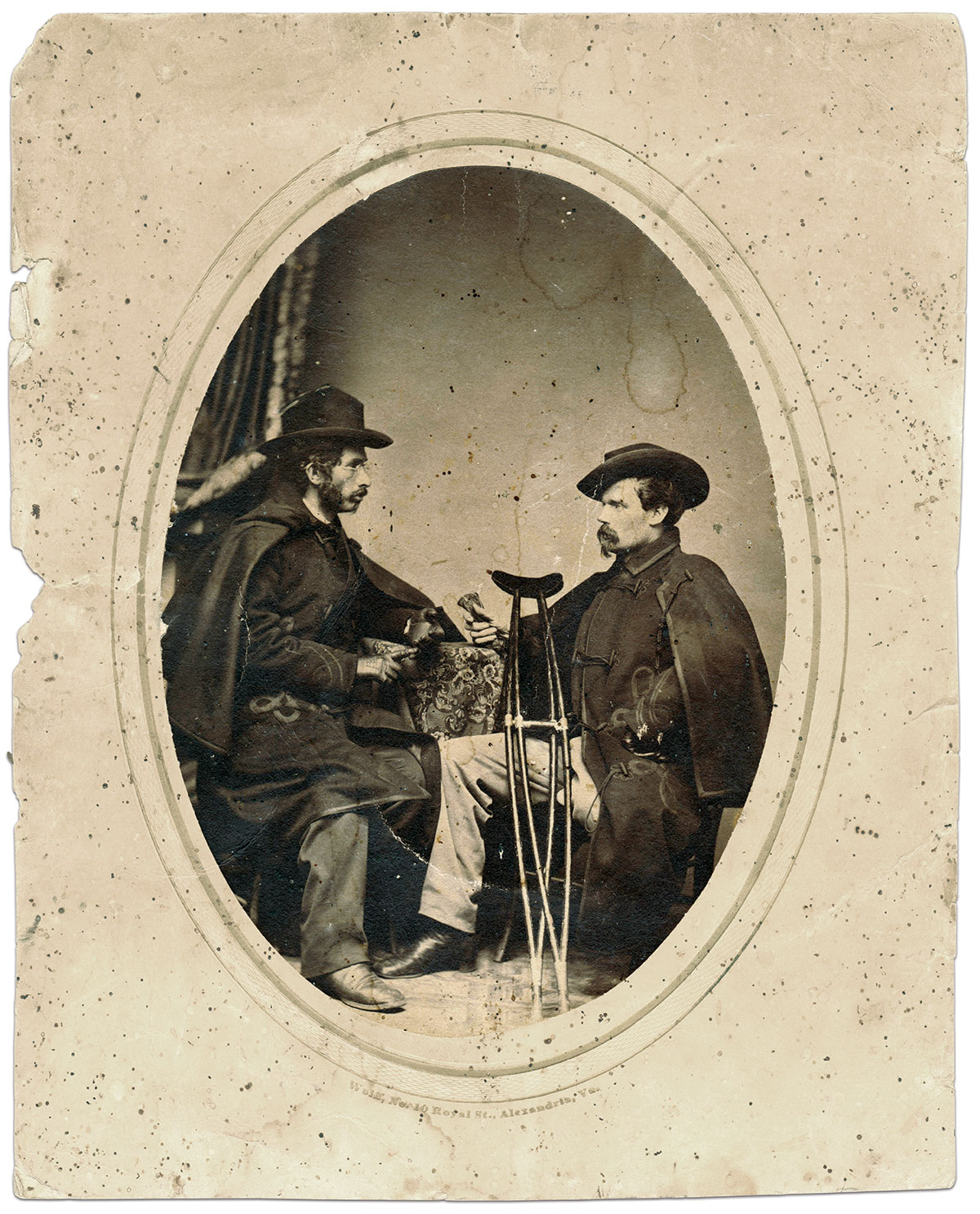 Albumen photograph by Wolff of Alexandria, Va. Seward Osborne Collection.