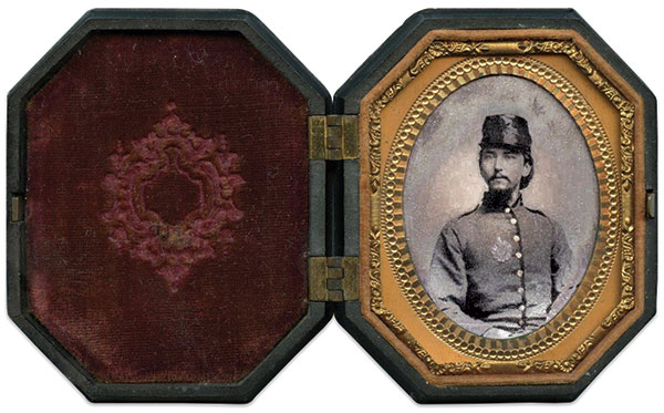 James Gloster.Ninth-plate tintype by anonymous photographer. Daniel Taylor Collection.