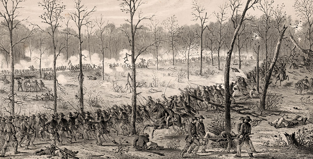 A detail of an 1862 engraving based on a sketch by Pvt. Alfred E. Mathews (1831-1874) of the 31st Ohio Infantry. Library of Congress.