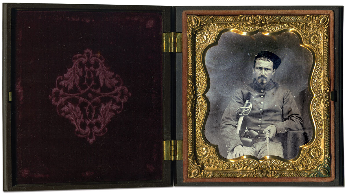 Sixth-plate ambrotype by an anonymous photographer.