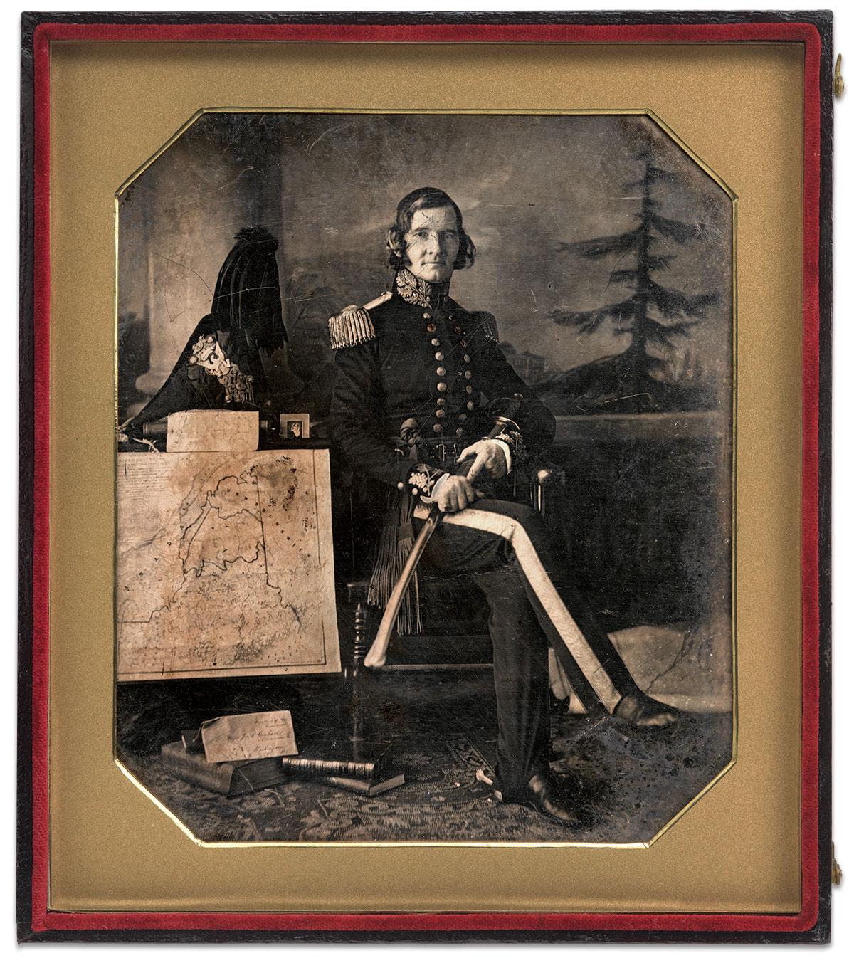 Half-plate daguerreotype by John Plumbe Jr. of Washington, D.C. National Portrait Gallery Collection.