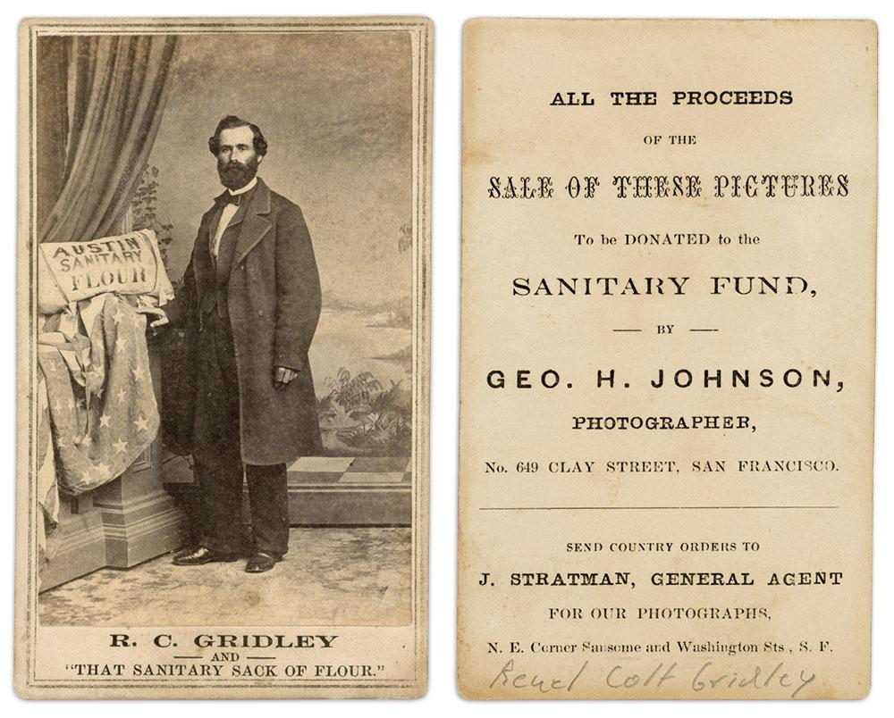 Carte de visite by George H. Johnson of San Francisco, Calif. Author's Collection.