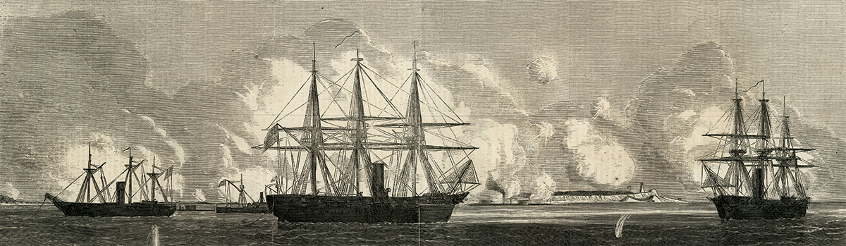 THE RICHMOND, far right, in an engraving from the Sept. 17, 1864 issue of Harper's Weekly.