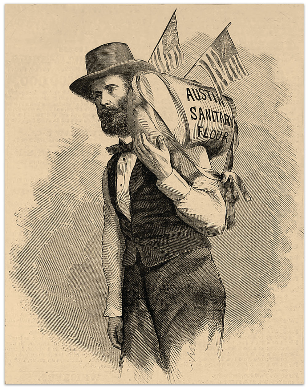 This illustration, based on the carte de visite by George H. Johnson, appeared in the Jan. 21, 1865, issue of Harper's Weekly.