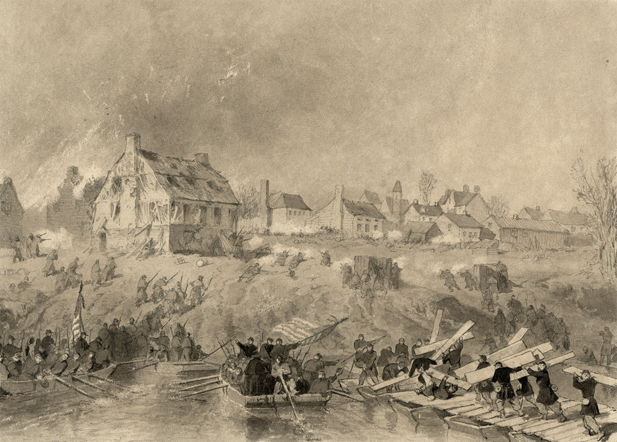 """""""Attack on Fredericksburg"""" by Alonzo Chappel. Library of Congress."""