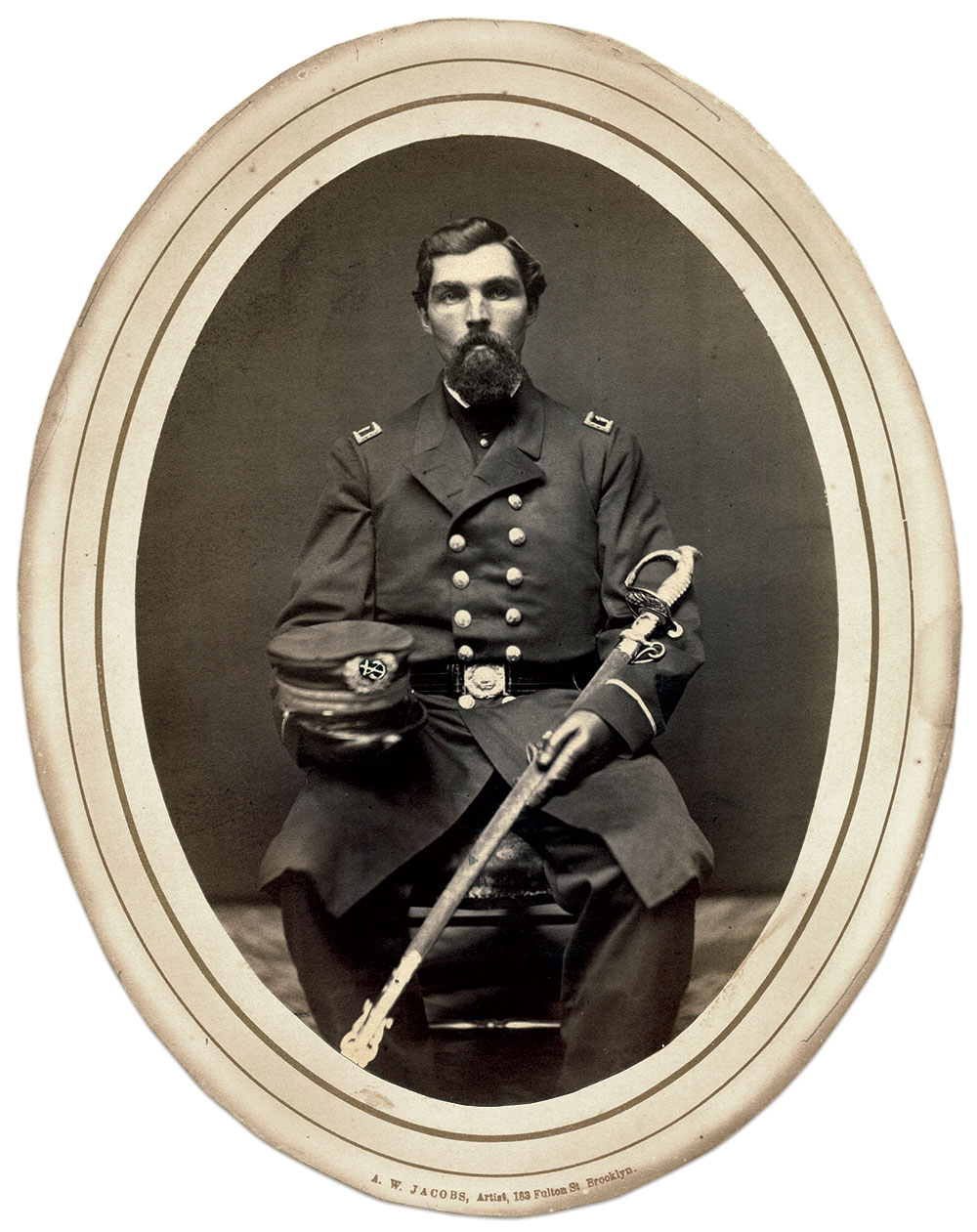 Abner Dodge Stover. Albumen print by A.W. Jacobs of Brooklyn, N.Y.