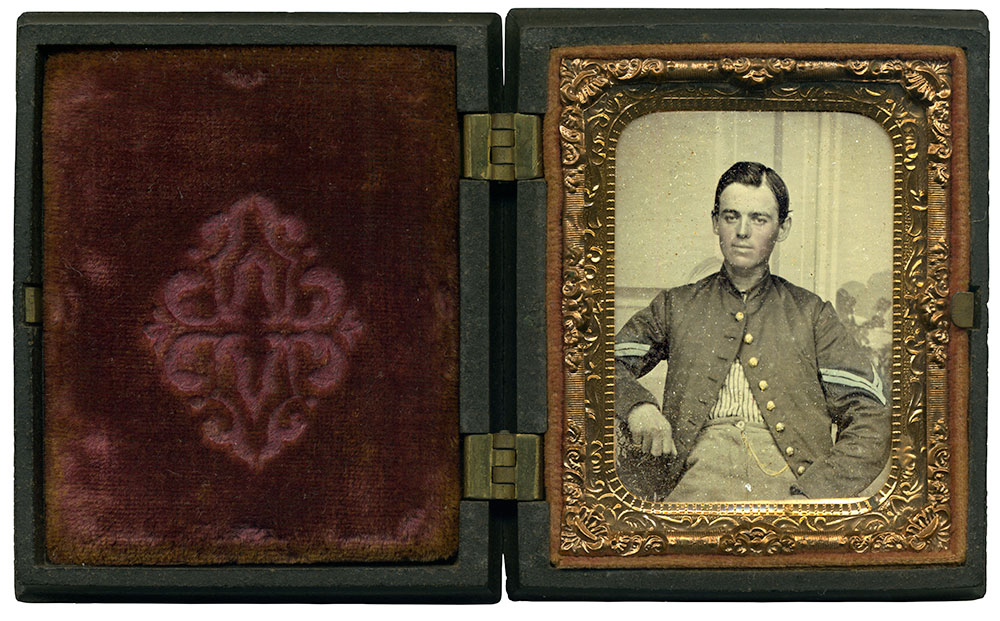 Ninth-plate ambrotype by an anonymous photographer.Courtesy of great-great-grandson Kevin Boyer in remembrance of his mother, Patricia M. Boyer.