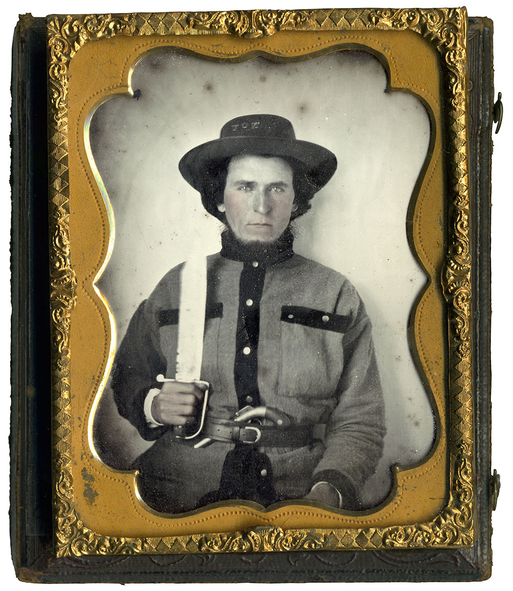 Quarter-plate tintype by an anonymous photographer. Paul Reeder collection.