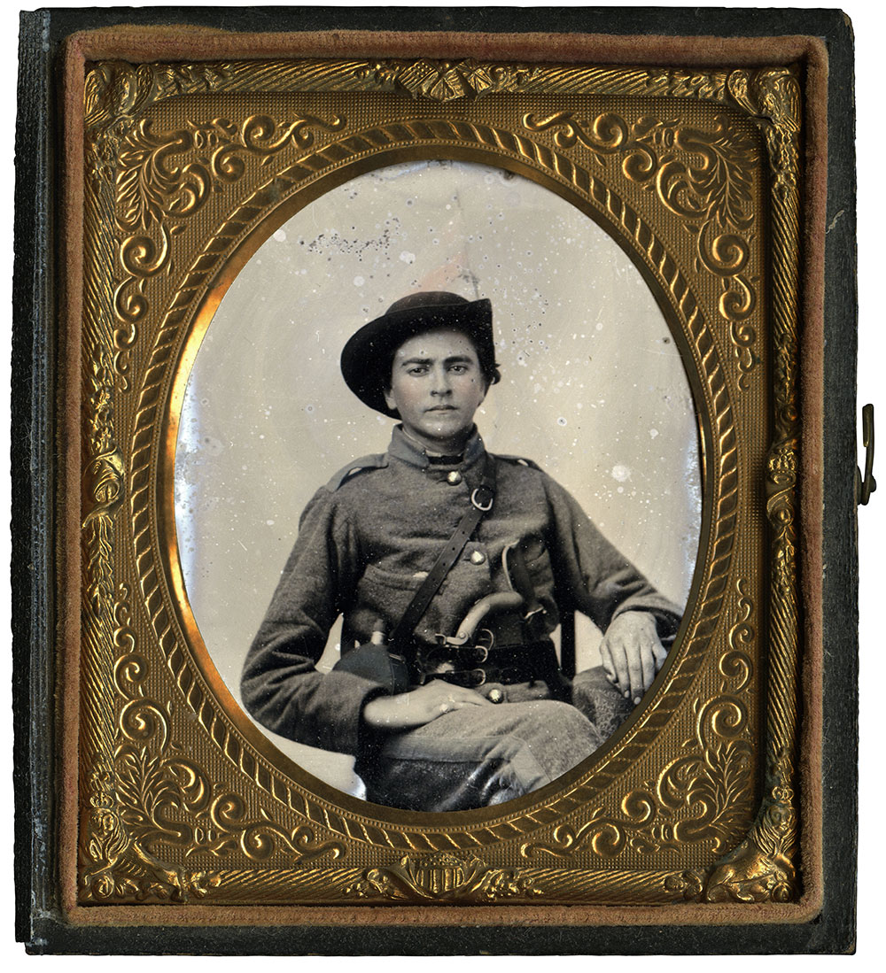 Sixth-plate tintype by an anonymous photographer. John Robella collection.