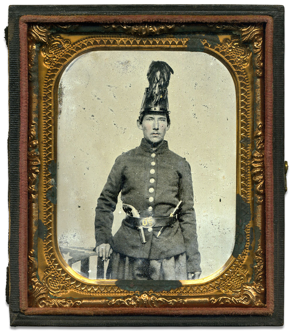 Sixth-plate tintype by an anonymous photographer. Gerald Augustus collection.
