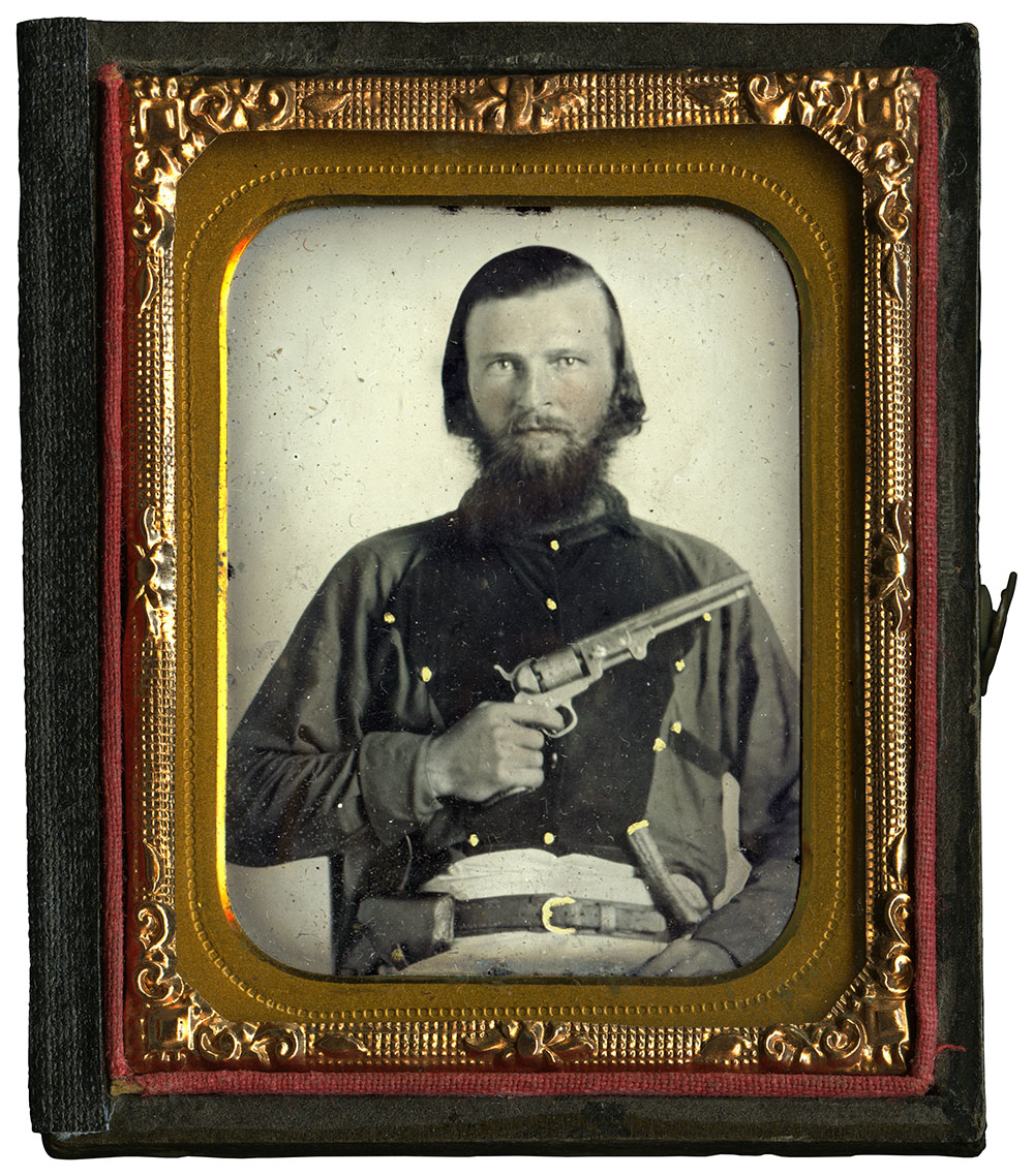 Ninth-plate ambrotype by an anonymous photographer. John Robella collection.