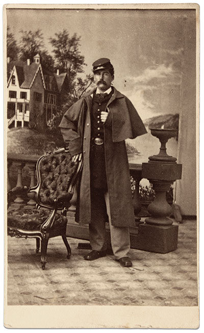 Carte de visite by O. C. Benjamin of Newark N.J., Buck Zaidel Collection.