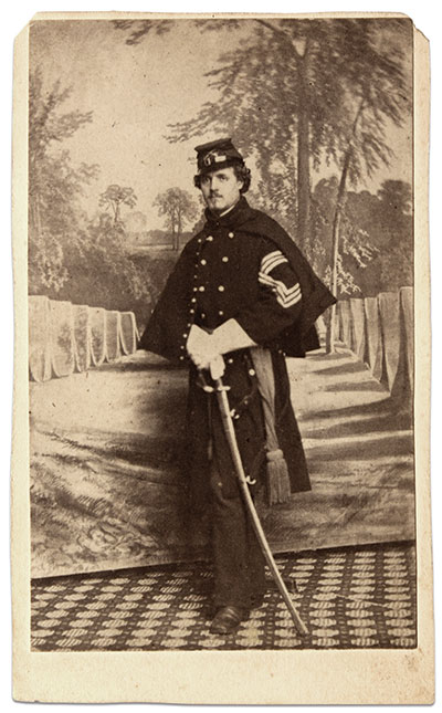 Carte de visite by Hesler of Chicago, Ill., Buck Zaidel Collection.