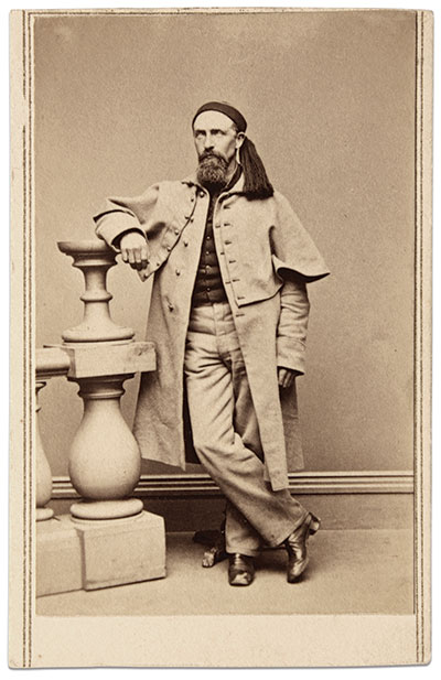 Carte de visite by Wilson Brothers of Hartford, Conn., Buck Zaidel Collection.