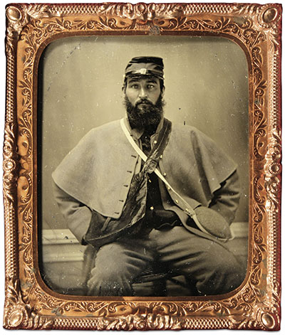 Sixth-plate tintype by an anonymous photographer. Buck Zaidel Collection.